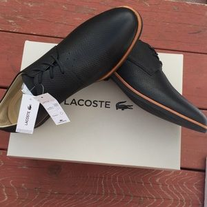Lacoste Shoes - Women's Lacoste Leather Shoes Cambrai Oxford Black